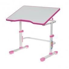 Парта школьная Бюрократ CONDUCTOR-001/PINK белый розовый
