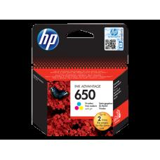 Картридж HP 650 CZ102AE оригинальный HP Ink Advantage, трехцветный